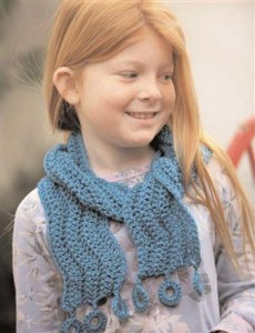 The Float Away Scarf designed by Kim Werker is a basic stitch pattern that is great for beginners.