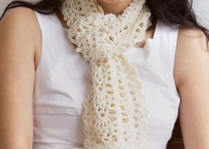 The Sweet Lorraine Lace Scarf is aa beautiful stitch pattern scarf that can be found in the free 10 Free Crochet Scarf Patterns eBook.