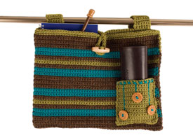 Make this fun walker bag with our exclusive eBook on crochet for charity patterns.