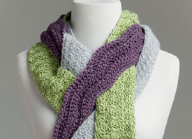Make this crocheted scarf with our exclusive eBook on crochet for charity patterns.