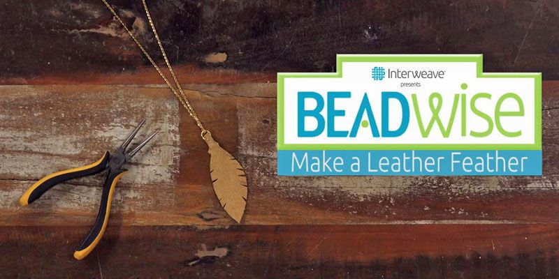 BeadWise: How To Make a Leather Feather in 5 Easy Steps