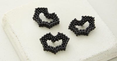 cubic right-angle weave beaded bats by Meredith Steele