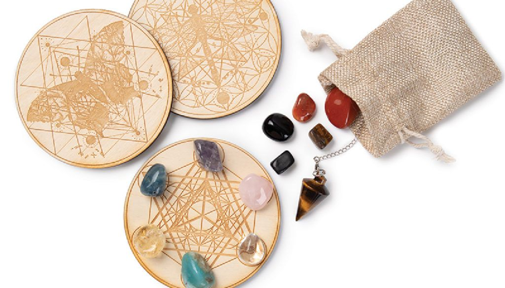 Set your intention with crystal grids and pendulum boards from CherryTreeBeads.com.