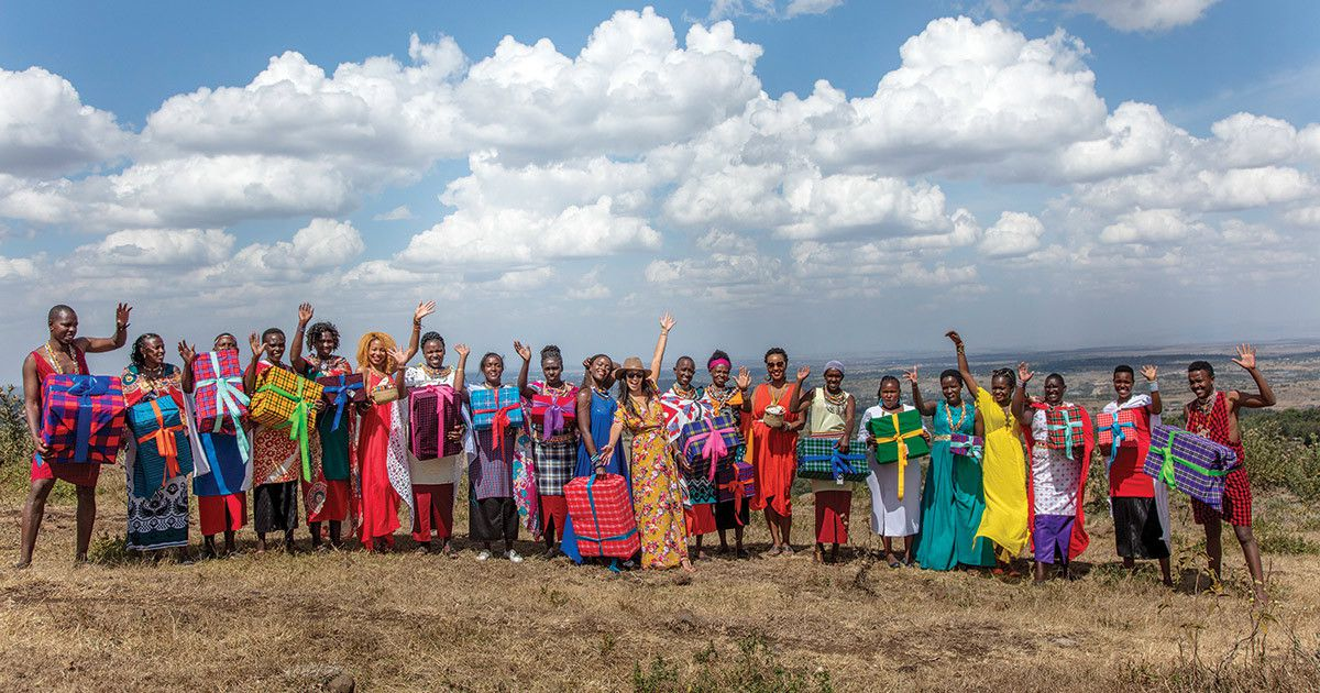 Chrissie with Maasai artisans. All photos courtesy of Love Is Project.