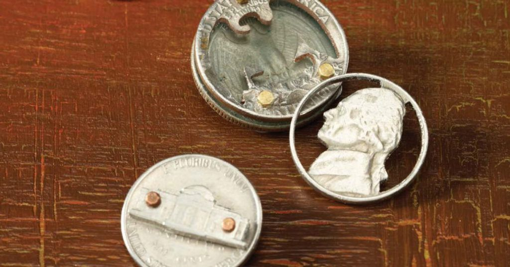 Learn to saw coins to make unique men's jewelry with Thomas Mann's video downloads. men's jewelry