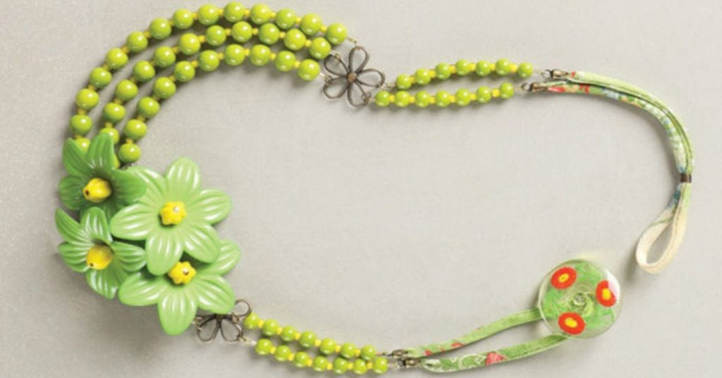Chartreuse Chanteuse by Anne Perry beading clasp