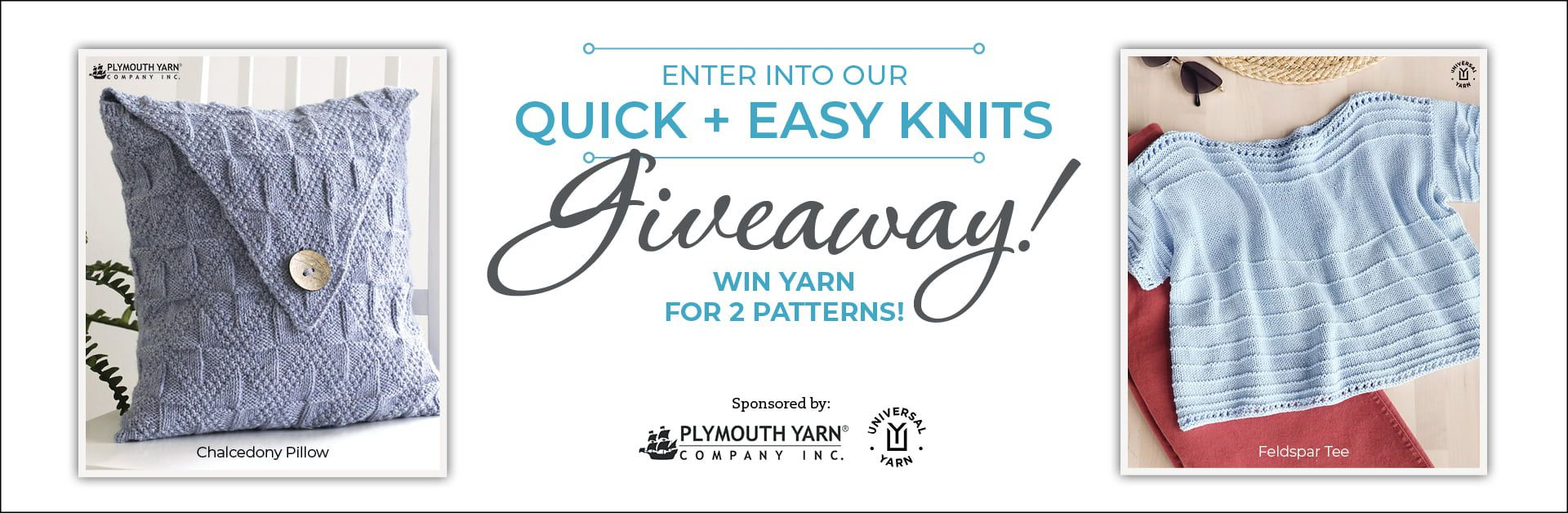 Quick + Easy Knits Giveaway banner