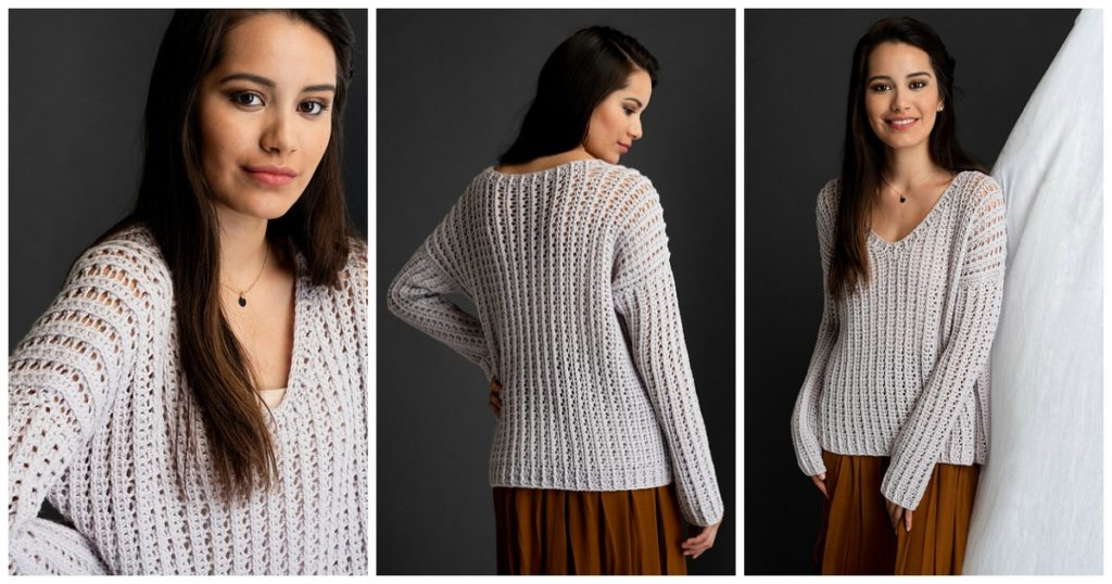 The Rhythmite Pullover is a gorgeous design from The Crochetist.