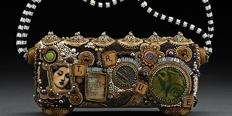 Bead Embroidered purse by Sherry Serafini