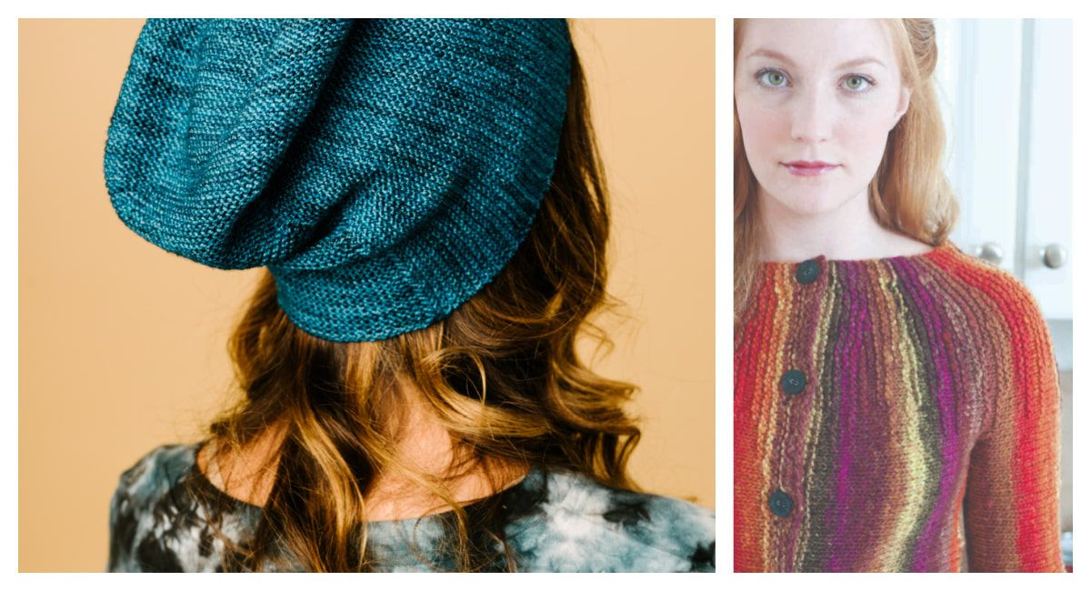 A hat and a sweater, both worked with short-rows