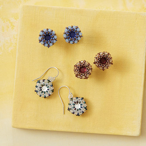 Sweet Sangria Earrings from Beadwork, February/March 2017