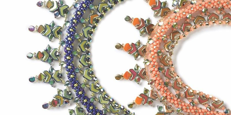 Naunet Collar by Maggie Thompson beadwork beaded necklaces