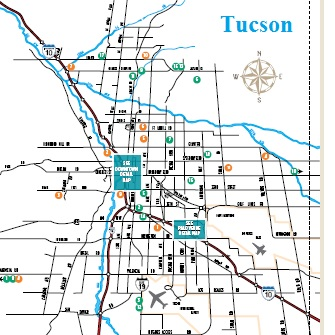 Tucson Show Guide map 2020