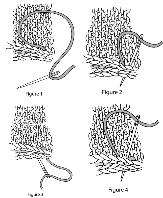 Learn how to do the backstitch seam in knitting with these 4 steps!