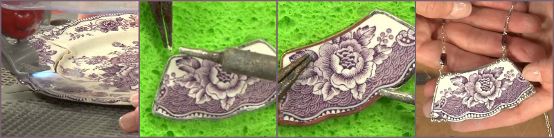 Learn how to make broken-china jewelry via low-temp soldering today!