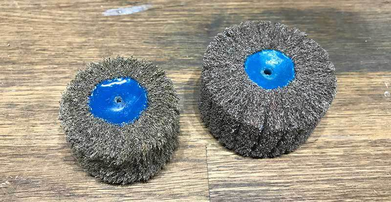 Here is a look at a well-used cluster brush next to a brand new one.
