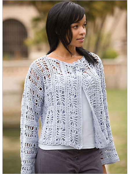Spider web crochet and beaded jacket