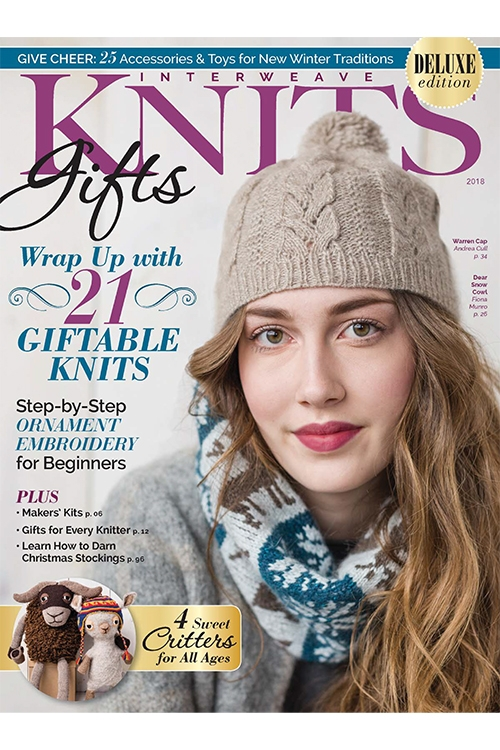 SPRING 2018 INTERWEAVE KNITS Great Knitting Patterns-NEW! Latest Edition