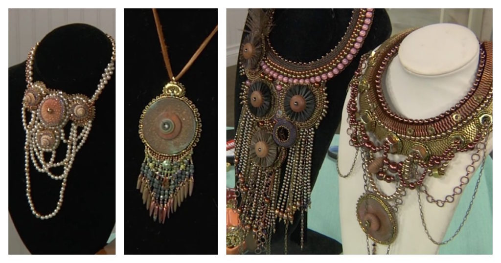 found objects in bead embroidery with Sherry Serafini