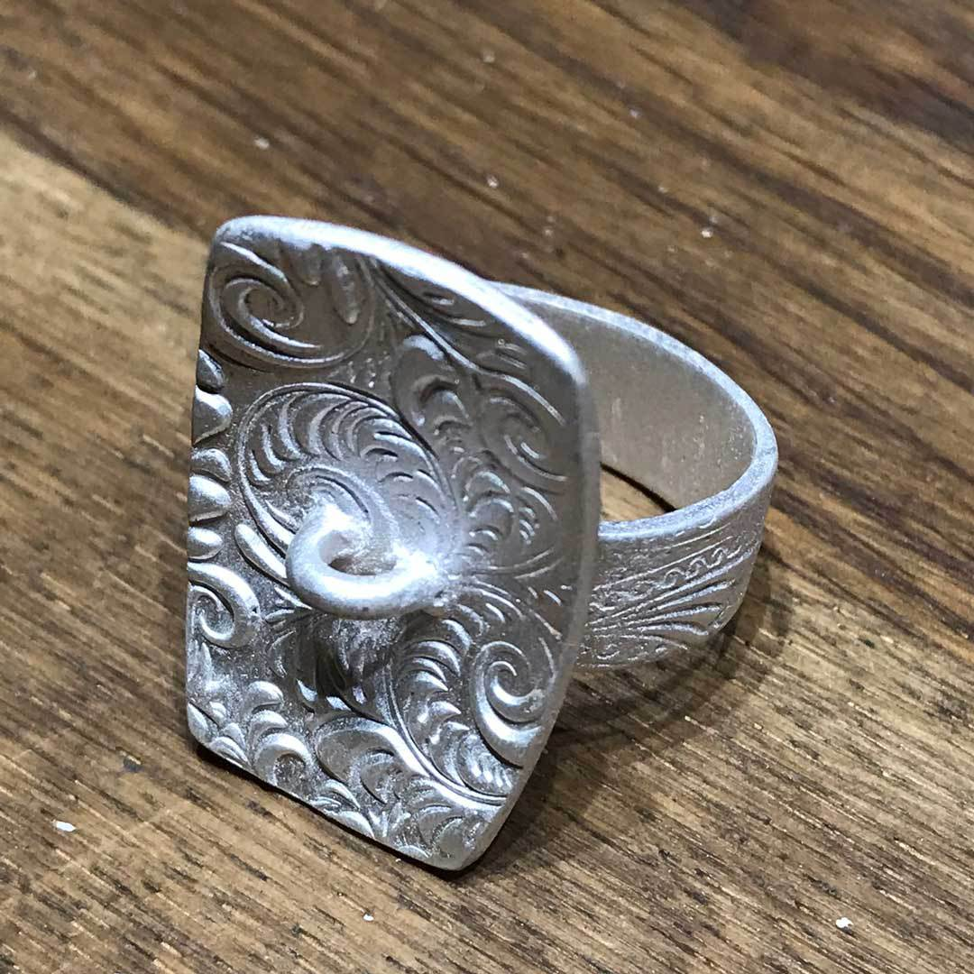 metal clay ring fired ready to finish