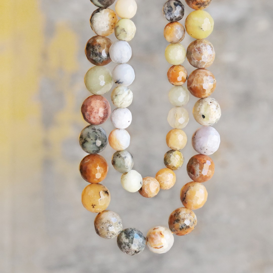 golden sage agate beads