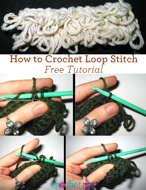 Learn how to loop stitch crochet
