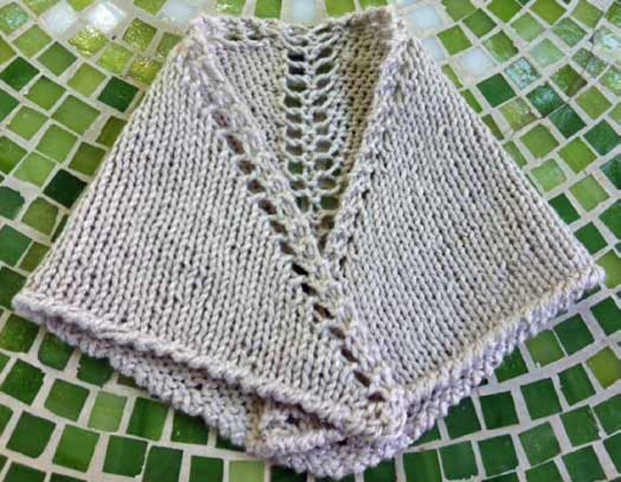 Learn how to knit this knitted prayer shawl that involves knitting lace.