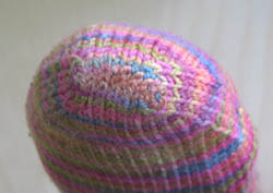 Nice grafts on this finished, knitted sock toe without using the kitchener stitch.