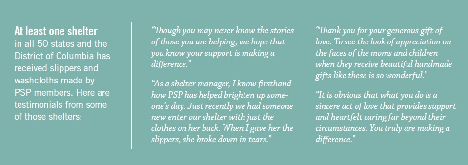 Pink SLipper project testimonials