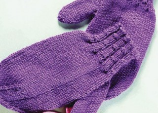 Learn how to make these feminine knitted mittens in our FREE eBook that contains 6 mitten knitting patterns.